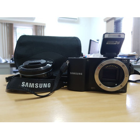 Câmera Profissional Samsung Nx 1000 Com Pouco Uso