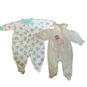 Par De Macacao Bebe Menina 3 - 6 Meses Branco B5474