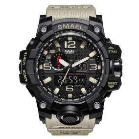 Relógio Sportivo Militar Smael Caixa De Metal + Brinde