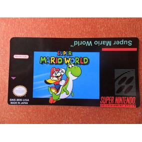 Label - Super Mario World - S-nes (tenho Várias Outras)
