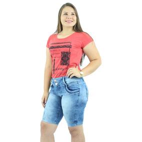 Combo De 2 Bermudas Feminina Jeans E 2 Calças Feminina+frete