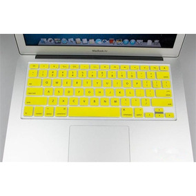 Capa Silicone Teclado Imac Macbook Amarelo Anti Poeira