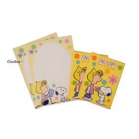 4x Papel Carta C/ 2x Mini Envelope Snoopy Peanuts #frete$9,5