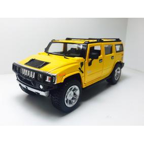 Miniatura 2008 Hummer H2 Suv Amarelo Kinsmart 1/32
