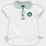 Camisa Do Palmeiras Infantil Polo Oficial Menina