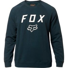 Sudadera Fox Legacy Crew Navy/bco. Moda Casual