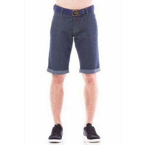 Bermuda Masculina Jeans Evt Middle Com Cinto Shorts Eventual