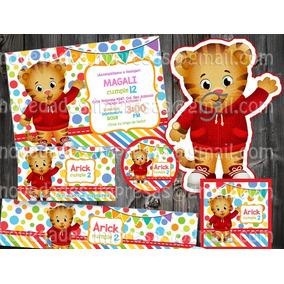 Kit Imprimible Daniel El Tigre Etiquetas Piñata Bolo Fiesta