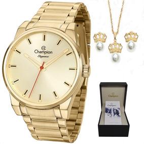 Relógio Champion O R I G I N A L Cn27590g + Kit Brinde C  Nf 304c8bcb0c