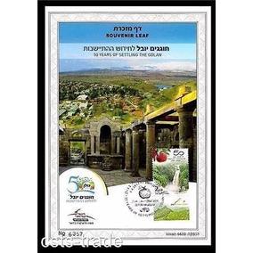 Selo 50 Anos Colonizacao De Golan Israel Original Com Nfe