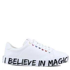 4caa38f3a73f4 Tênis Zariff Shoes Flatform Lettering Branco 808611793
