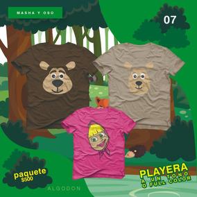 Masha Y Oso Playera Paquete Fiesta De Cumpleaños