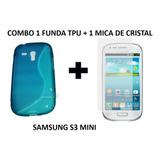 Combo Funda Tpu Flexible Samsung S3 Mini + Cristal Templado