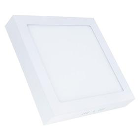 Painel Plafon 18w Led Quadrado Teto Sobrepor Branco Frio
