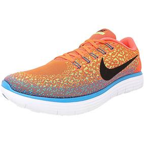 super popular 075ec 9b852 Hombres Nike Free Rn Distancia Hyper Naranja   Negro-volt-bl