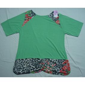 6fd3754913 Blusa Blusinha Feminina Plus Size 1725 Detalhe Floral