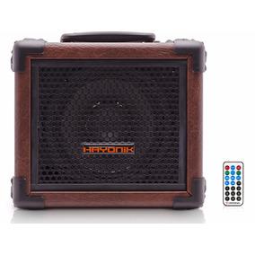 Caixa Hayonik 20w Iron 80 Fm Bluetooth Microsd Usb Marrom