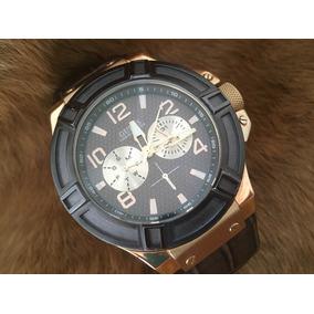 Relógio Guess U0040g3 Pulseira De Couro Masculino Promoção