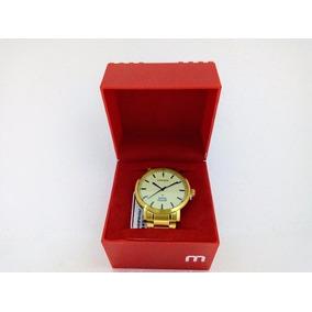 Relógio Masculino Mondaine Dourado 94948 Original Pv Dágua