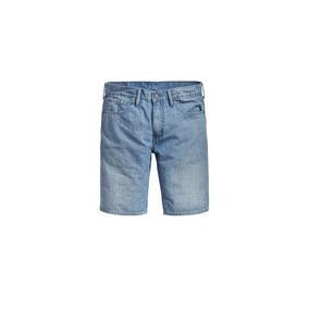 Bermuda Jeans Levis 511 Slim Hemmed Lavagem Média