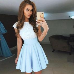 Vestidos cortos elegantes color azul
