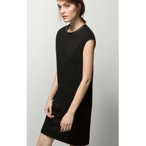 Talla 28 Vestido Zara Marca Recto Negro 8nn7qaTO
