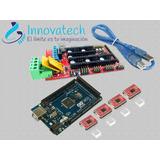 Kit Shield Ramps +jumper+arduino Mega R3 + 4 Drivers A4988