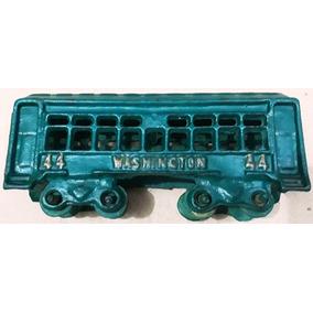 Raro Trem Metal Antigo Ferro Vagão Passageiro Washington 44