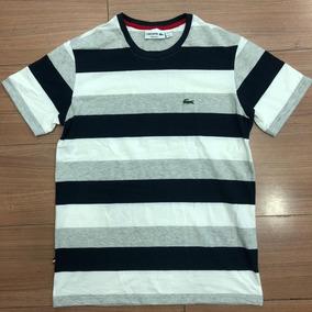 08013be33b859 Camiseta Lacoste Masculina Listrada De Camisetas - Camisetas e ...