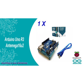 Arduino Uno R3 Com Atmega16u2 Mega328p + Caixa + Cabo Usb
