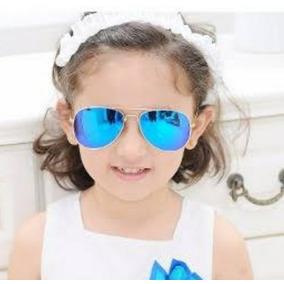 0f0f7002efec3 Óculos De Sol Infantil Aviador Espelhado Menino Menina