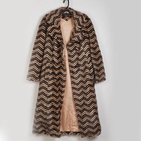 Roupa P/ Estudio Fotog-casaco Listrado Marrom E Bege