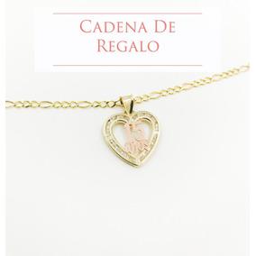 e475989a9883 Medalla 15 Años Corazon Oro 10k Y Hermosa Cadena De Regalo