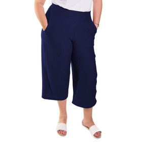 Roupa Feminina Calça Pantacourt Pantacur Plus Size Cós Alto