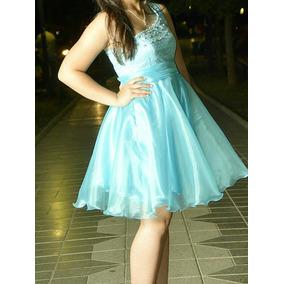 Vestidos cortos color azul claro