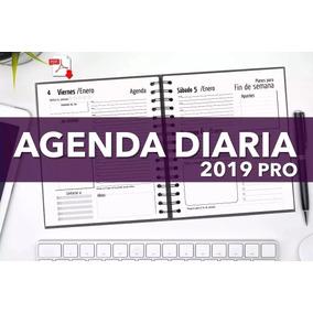Agenda Diaria 2019 Pro Pdf Imprimible Todo A Un Solo Peso !