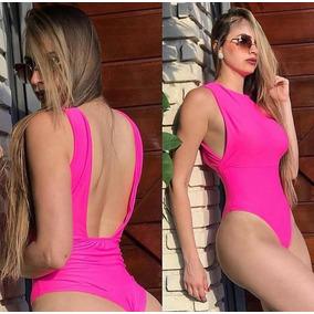 Body Decote Lateral Frente Unica Fluor Neon Pink Amarelo