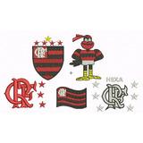 Bordado Flamengo Matriz Computadorizada Frete Grátis Kit-5