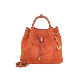 2d179f420bfda Bolsa De Couro Saco Marrom - Smartbag