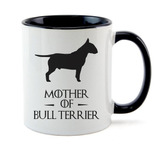 Caneca Interior Preta Mother Of Bull Terrier Game Of Thrones