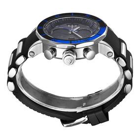 Reloj Acero Inoxidable Cuarzo Digital Aprueba De Agua 30 M