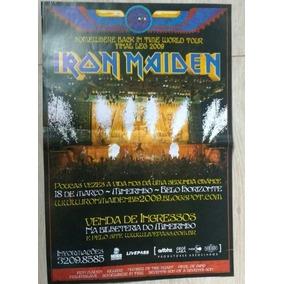 Poster Iron Maiden Raro Tour Belo Horizonte 2009
