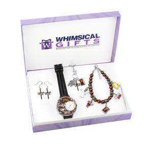 dc42b46de4c Religiosos De Plata 4-piece Reloj-pulsera-collar-pendientes