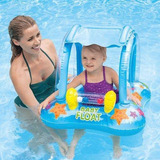 Boia Infantil Baby Bote Inflável Kiddie Com Cobertura Intex