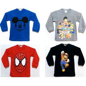 Kit 10 Camisetas Infantil Atacado Manga Longa