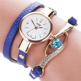 Reloj Pulsera Cuero Diamante - Detal Y Por Mayor
