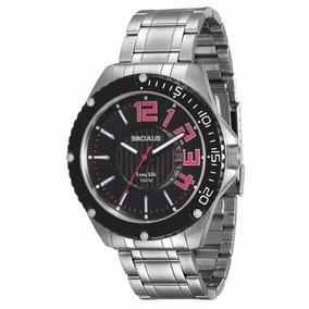 Relógio Seculus Masculino Analógico Prata - 20212gosvna2