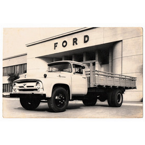 Fotografia Antiga - Caminhão Ford F-600 - 1960