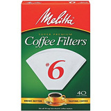 Melitta Cone Coffee Filters White No 6 40count Filters Paque
