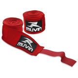 Bandagem Elástica - 300cm X 5cm - Vermelho - Muvin Bdg-300